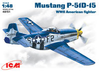 Mustang P-51D-5 WWII American  fighter