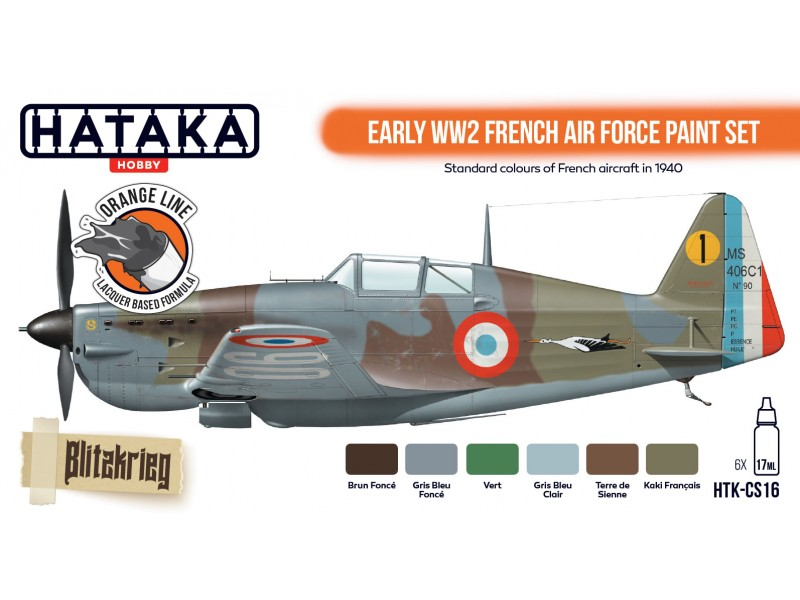 HTK CS16 Early WW2 French Air Force paint set