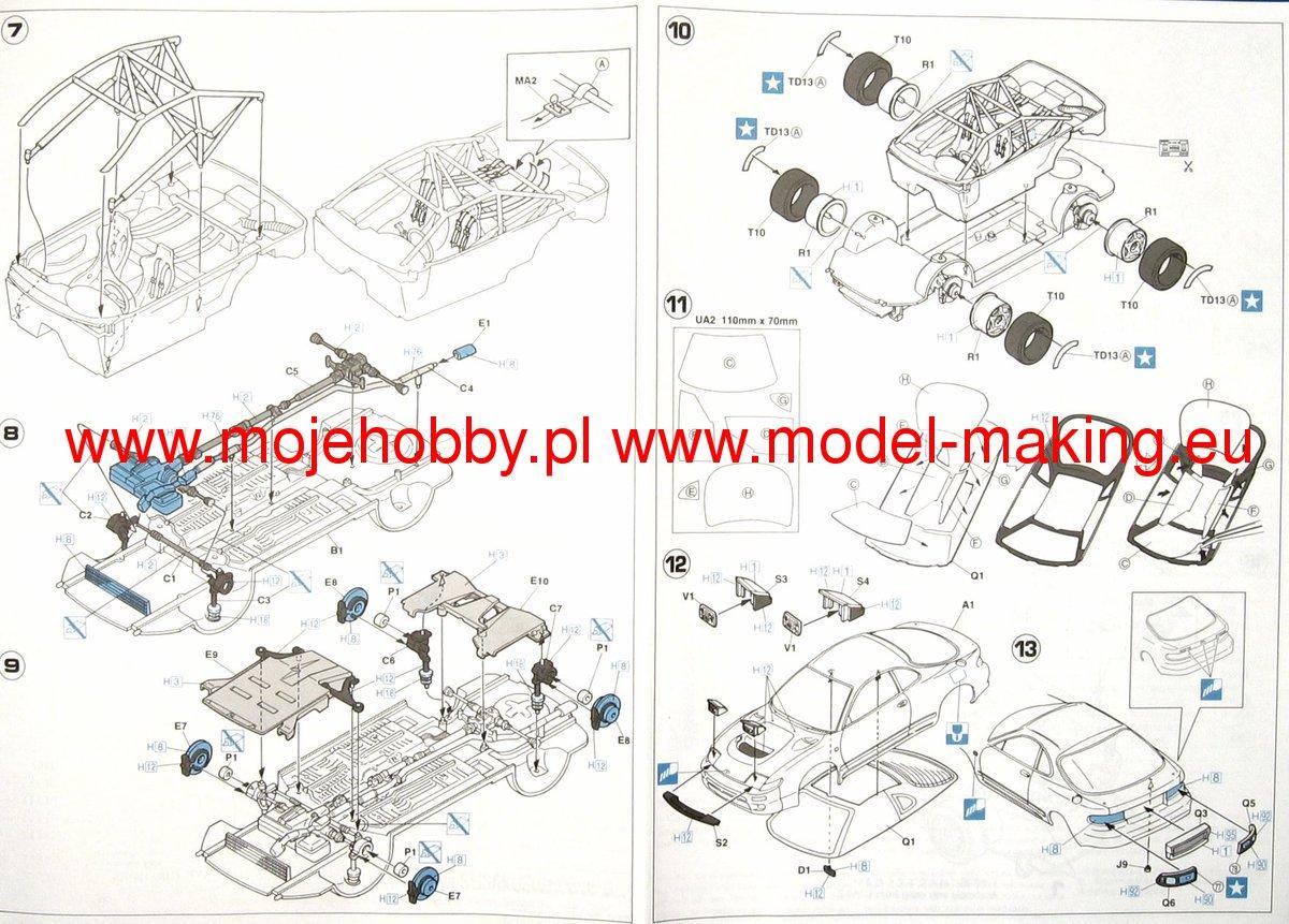 Toyota Celica 93 Monte Carlo Hasegawa Cr10 1993 Engine Diagram 2 Hascr10 3