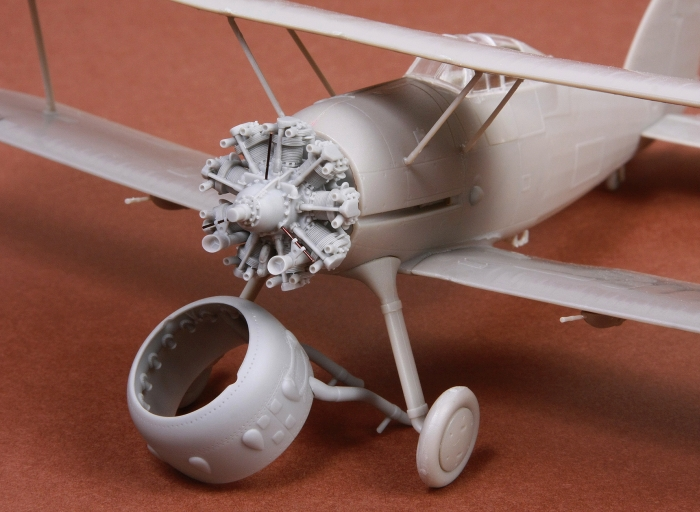 Gloster Gladiator engine & cowling set - Image 1