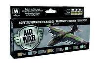 "71603 Air War Color Series - Soviet/Russian Colors Su-25/39 ""Frogfoot"" From 80s to present - set"