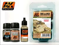 AK 120 OIF & OEF - US VEHICLES WEATHERING SET