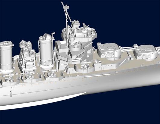 Trumpeter 05743 Modellbausatz USS Astoria CA-34 1942