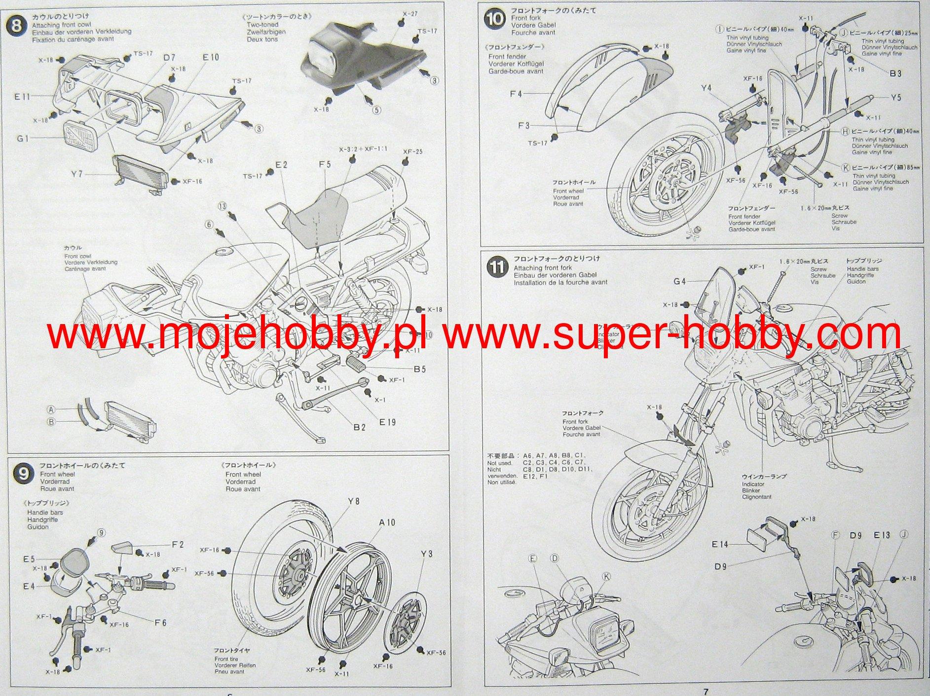 Suzuki Gsx1100s Katana Custom Tuned Tamiya 14065 Engine Diagram 2 Tam14065 4