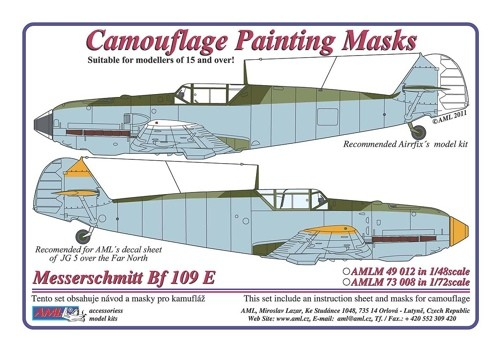 Camouflage painting masks Messerschmitt Bf 109E Late - Image 1