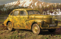 German Opel Kapitan Saloon WWII German Staff Car