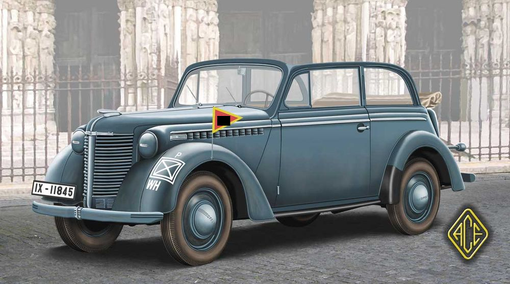 opel olympia stabswagen 1938 (staff car) cabriolet ace 72507