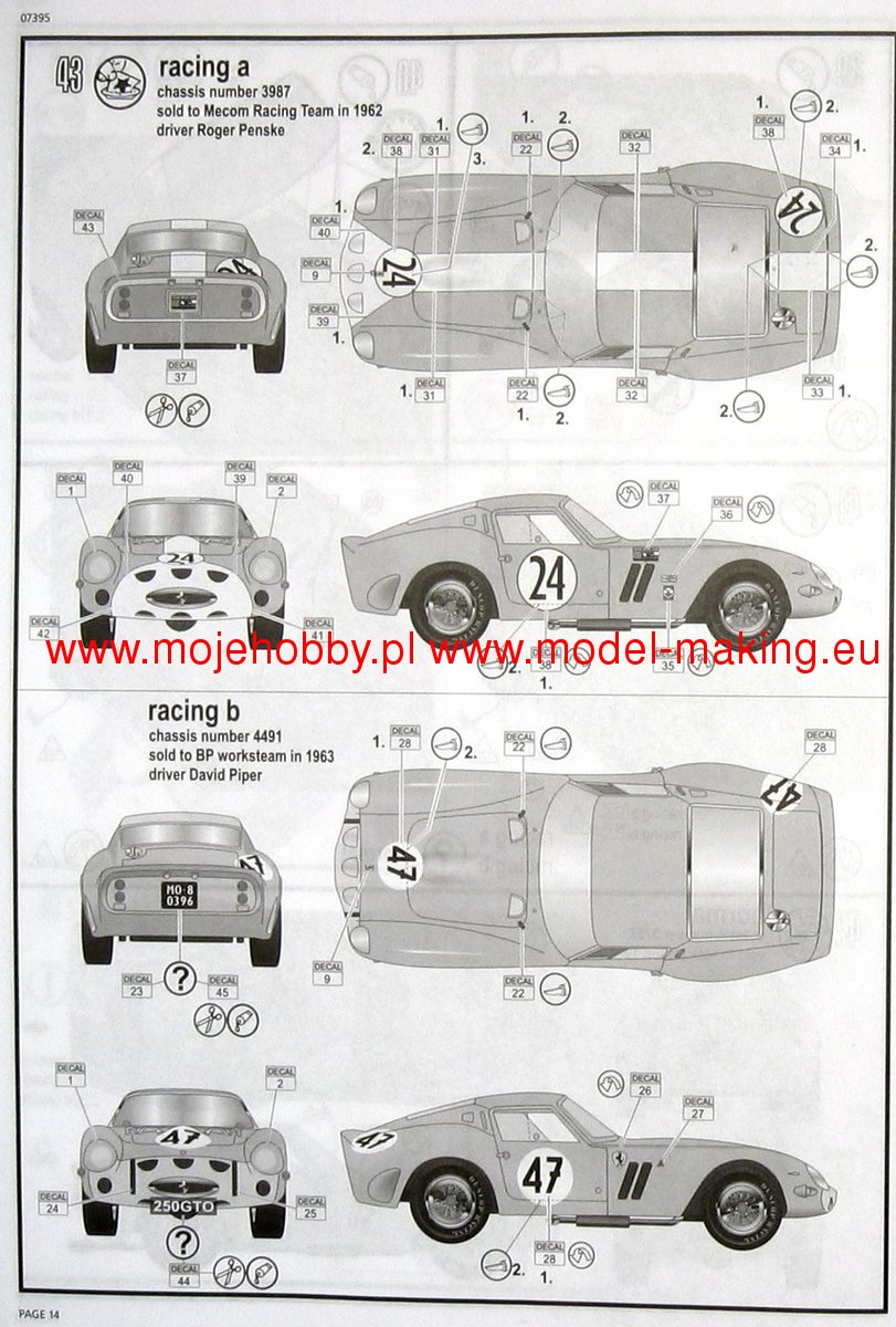 Ferrari 250 GTO Revell 07395