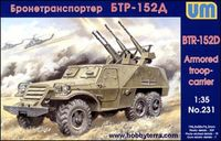 BTR-152D Soviet armored troop-carrier