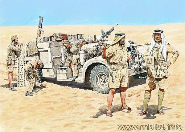 British Lrdg Long Range Desert Group In North Africa 1941 1943