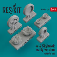 A-4 Skyhawk early version wheels set