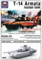T-14 Armata Russian Tank with resin kit limited edition - Image 1