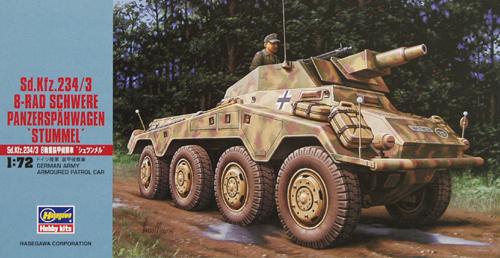 Sdkfz2343 8 Rad Schwere Panzerspahwagen Stummel Hasegawa Mt54