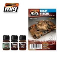 A.MIG 7403 Rusty Vehicles - Enamel Weathering Set