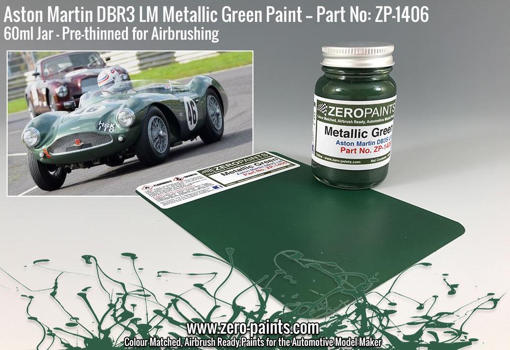 1406 Aston Martin Dbr3s Lm Metallic Green Zero Paints 1406