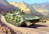 BMP-2E Russian infantry fighting vehicle (Afgan War)