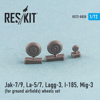Jak-7/9, La-5/7, Lagg-3, I-185, Mig-3  (for ground airfields) wheels set - Image 1