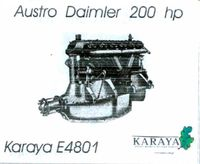 Austro-Daimler 200 hp engine