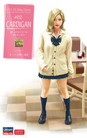 52188  JK Mate Series #02 Cardigan Japanese High School Girls Resin figures kit