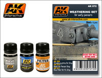AK 072 WEATHERING SET FOR EARLY PANZERS