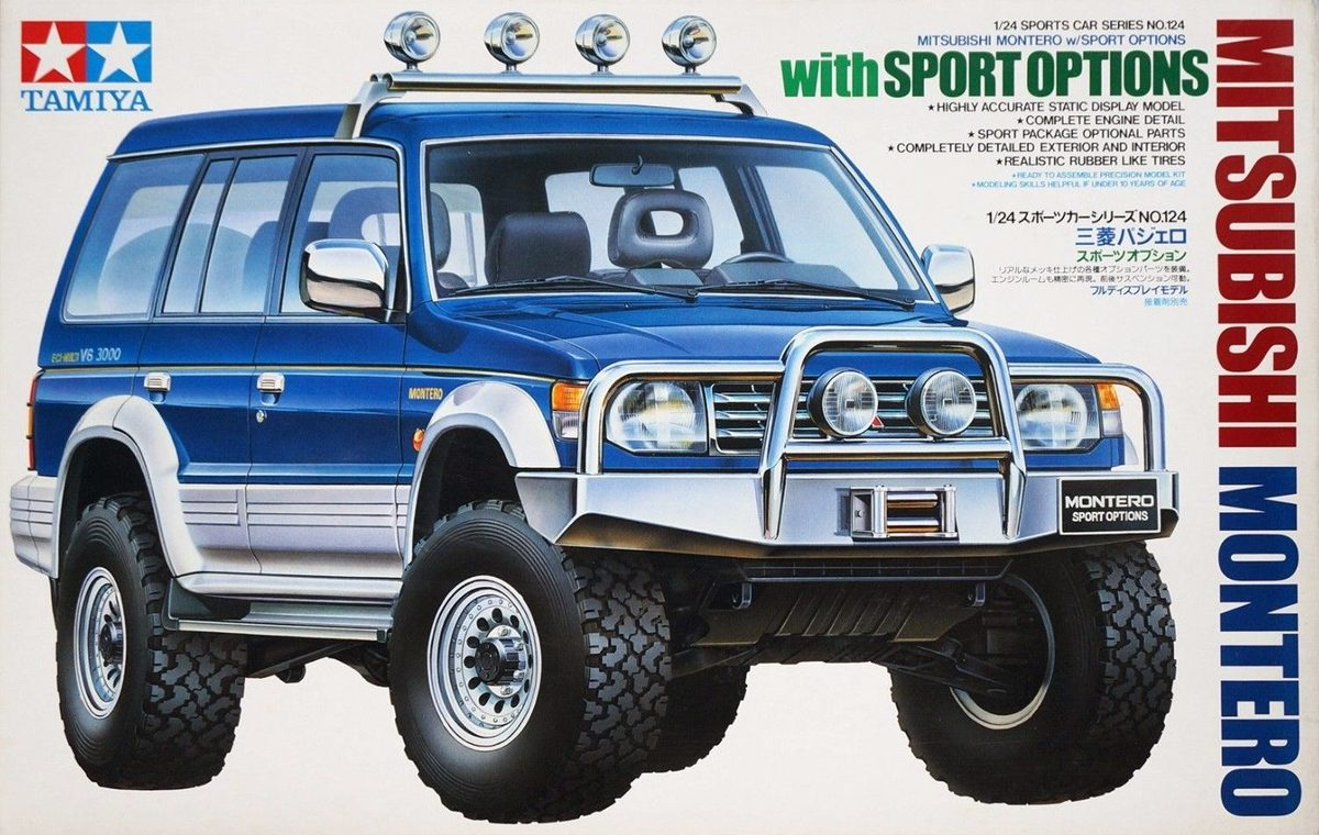 mitsubishi montero with sport options tamiya 24124