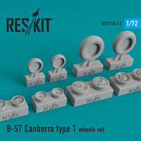 B-57 Canberra type 1 wheels set