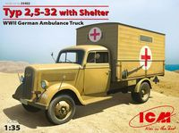 Typ 2,5-32 with Shelter, WWII German Ambulance Truck