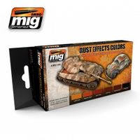 A.MIG 7106 Rust Effects Colors - Acrylic paint set for rust, chipping and all corrosion effects