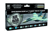 "71602 Air War Color Series - Soviet/Russian Colors Su-27 ""Flanker"" From 80s to present - set"