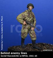 Behind enemy lines, Soviet Razvedchik w/MP40, 1941-45
